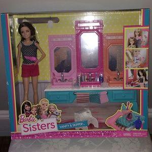 Barbie sisters vanity and skipper